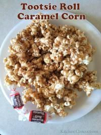 Tootsie Roll Caramel Corn on MyRecipeMagic.com. Another great popcorn recipe with tootsie rolls!