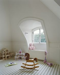 New-England-Estate-traditional-kids-new-york Pine Island, Attic Design, New England, Toddler Bed, Furniture, Homes, York, Traditional, Home Decor