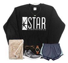 """Love the flash"" by hannahmae24 ❤ liked on Polyvore featuring NIKE, Ray-Ban, Kendra Scott and Kate Spade"