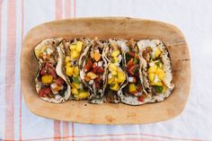 Slow Cooker Carnitas Tacos with Summer Peach & Tomato Salsas recipe on Slow Cooker Carnitas, Carnitas Tacos, Pork Tacos, Slow Cooking, Crockpot Recipes, Cooking Recipes, Pork Recipes, Recipies, Flaky Biscuits