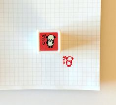 NEW Kodomo No Kao Self-inking Panda Stamp - Satisfied panda by niconecozakkaya on Etsy