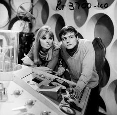 Doctor Who: exclusive behind the scenes look at The Power of the Daleks – Patrick Troughton's first episode | Anneke Wills as Polly and Michael Craze as Ben in the Tardis control room. Shot number RT 3700 40. | Photographed by Don Smith
