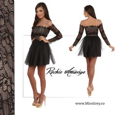 Be elegant, young and beautiful, with Miss Grey's black dress: https://missgrey.ro/ro/home/rochie-amarige/178?utm_campaign=t1&utm_medium=regular_post&utm_source=pinterest_produs