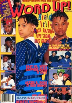 Wow over of Yumminess Thanks Word Up Magazine, Black Magazine, Manga Cover, Aesthetic Pictures, Aesthetic Photo, Kris Kross, Arte Hip Hop, Rap Wallpaper, Hip Hop And R&b
