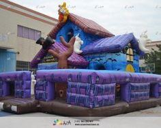Castillo Hinchable Casa del terror-Navidad y Halloween-019