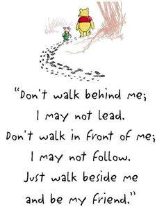 Read this quote every day growing up but it wasn't winner the pooh it was footprints in the sand