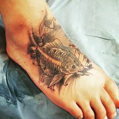 Foot Tattoos, Leaf Tattoos, Craig Davies, Koi, Japanese, Instagram, Tenerife, Japanese Language