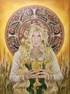 The Norse Goddess Sif is the golden-haired wife of the God Thor. Thor, Loki, Celtic Goddess, Goddess Art, Wicca, Pagan, Symbole Viking, Old Norse, Vegvisir