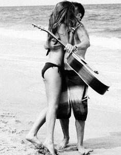 #beach #guitar #love
