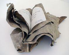 Banana Leaf Haiku by Mary-Ellen Campbell - Books from Natural Materials http://www.mecampbellart.com/html/natural.html #book_arts #nature