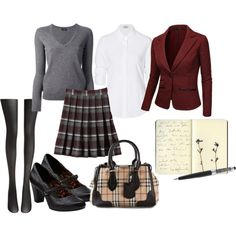 A board with personality - incorporate non-uniform items (purse, notebook) that help show that just because you're in uniform doesn't mean you can't also be you.