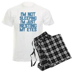 I'm Not Sleeping (Blue) Pajamas