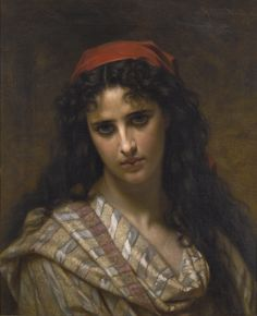 Hugues Merle  FRENCH 1823 - 1881  A RARE BEAUTY                                                                               FRENCH                                           ...