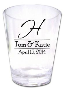 120 Personalized Wedding Favor Shot Glasses NEW by Factory21, $96.00