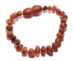 Genuine Raw Baltic Amber Baby Teething Bracelet/Anklet by BLTAmber