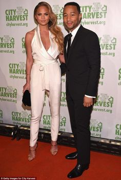Date night! Chrissy Teigen and John Legend attended the 21st annual City Harvest Gala at C...