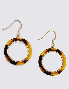 Resin Hoop Earrings | M&S