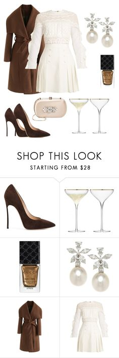 """""""Untitled #9"""" by rwnnz ❤ liked on Polyvore featuring Casadei, Gucci, Chicwish, self-portrait and Badgley Mischka"""