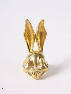 Rabbit skull ring