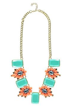 Iona Flower and Gem Necklace at boohoo.com