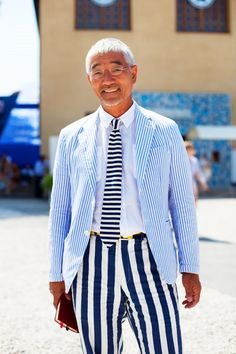 On the Street……Striped Right, Florence « The Sartorialist