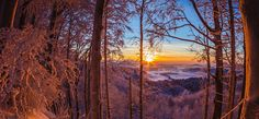 Winter, Celestial, Mountains, Sunset, Nature, Travel, Outdoor, December 12, Seasons Of The Year