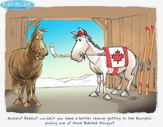 horses and hockey - who knew