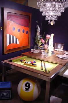 Pool Table & Dining Room Table...Creative!