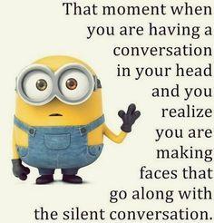 Ideas For Funny Jokes Hilarious Humor Minions Quotes Minion Humour, Funny Minion Memes, Minions Quotes, Funny Texts, Minion Sayings, Funny Love, Funny Shit, Fun Funny, Citation Minion