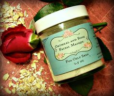 Rose and Oatmeal Clay Facial Masque  Dry blend for oily skin