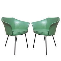 These are awesome. Pair of 1950s CM145 Chairs by Pierre Paulin