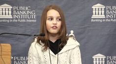 12-year old Victoria Grant explains why her homeland, Canada, and most of the world, is in debt. April 27, 2012 at the Public Banking in America Conference, Philadelphia, PA. Support a public bank for YOUR state. Donate and make it happen!