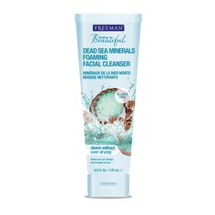 Foaming Dead Sea Facial Cleanser to remove make up and Cleanse Pores. Perfect partner for our Feeling Beautiful Face Masks. Paraben Free.