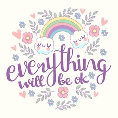 Everything will be ok lettering with rai. Pretty Quotes, Cute Quotes, Girl Quotes, Words Quotes, Qoutes, Sayings, Inspirational Quotes Background, Everything Will Be Ok, Serious Quotes