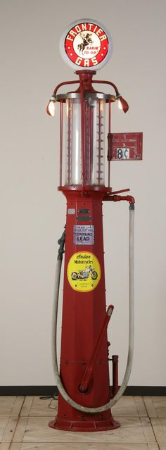 vintage+gasoline+pumps | 390: Rare vintage gas pump by Fry Visible Pump