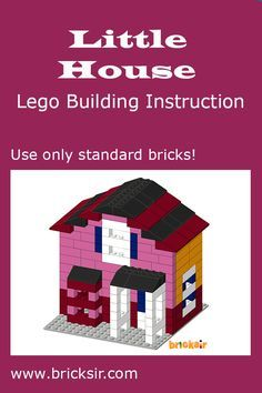 Your girls would love building a cute house with Bricksir step-by-step lego building instructions. Only using standard bricks! Available in iPhone and iPad. Free download at appsto.re/us/WRyX6.i #bricksir #lego #kidsactivities #homeschool www.bricksir.com