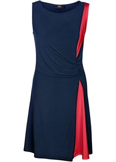 Vestido bicolor azu/vermelho encomendar agora na loja on-line bonprix.de  R$ 89,90 a partir de Modelagem marcada, frente com franzido sofisticado, decote ...