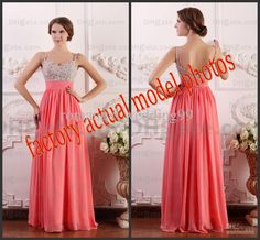 Wholesale Real Image 2013 Hot Brand New Evening Party Dresses Rhinestone Bead Chiffon A Line Prom Formal Gowns, Free shipping, $101.14/Piece | DHgate