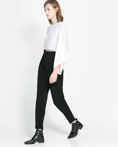 ZARA - WOMAN - HIGH WAIST STUDIO TROUSERS
