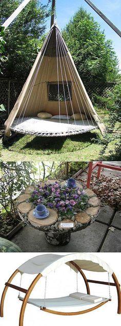 10 Best Balcony Garden Designs and Ideas for 2019 - Garden Balcony Design - Garten Backyard Hammock, Backyard Landscaping, Hammock Ideas, Backyard Ideas, Backyard Retreat, Pergola Ideas, Patio Ideas, Pergola Kits, Backyard Shade