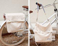 Canvas Bicycle Saddlebags Bike Pannier  Chapman at Sea