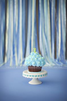 Do you think that a little tweeking on the cake would make it work for a 1st birthday cake smash that has a theme of Cookie Monster ???? Suggestions