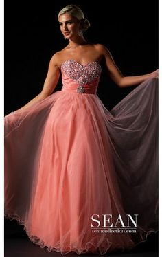 Strapless Sweetheart Beaded Ball Gown SN-70581