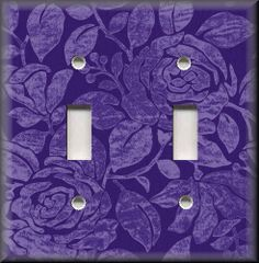 Light Switch Plate Cover - Vintage Rose - Purple - Floral Home Decor - Roses