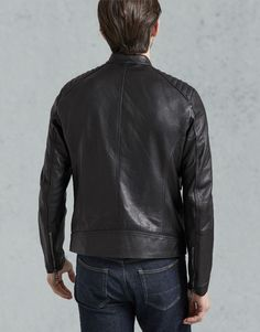 V Racer Leather Jacket Lambskin Leather, Leather Men, Leather Jackets, Belstaff Jackets, Plus Clothing, Motorcycle Style, Field Jacket, Mens Fashion, Clothes