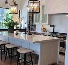 Obsessed with this gorgeous kitchen and home Becki Owens! Click the image to design your own with our free home design app. Keywords: gorgeous homes, beautiful homes, lighting design interior, simple Home Decor Kitchen, Kitchen Interior, Home Kitchens, Kitchen Ideas, Kitchen Inspiration, Small Kitchens, Modern Kitchens With Islands, Modern Country Kitchens, Country Modern Home