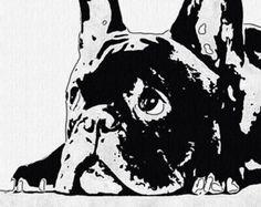 French bulldog pop art 8x10