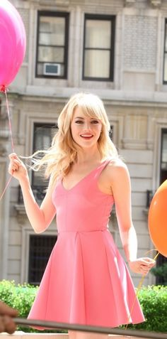 Emma Stone is so pretty in pink