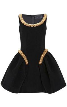 Bonded Wool Beaded Dress by Simone Rocha for Preorder on Moda Operandi