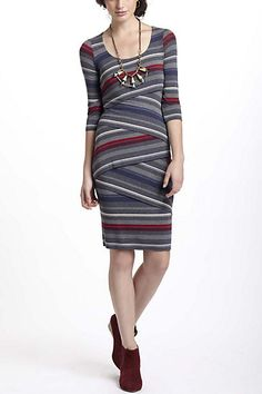 Striational Column Dress #anthropologie